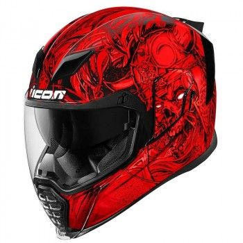 Icon Integraalhelm Airflite Krom Red