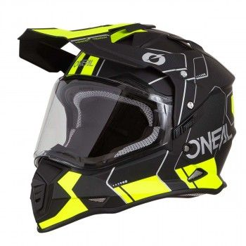 O'neal Crosshelm/Endurohelm Sierra II Comb Black/Neon Yellow-S