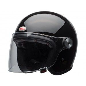 Bell Riot Retro Jethelm Solid Gloss Black
