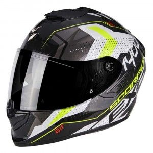 Scorpion Integraalhelm EXO-1400 Air Trika White/Black/Neon Yellow
