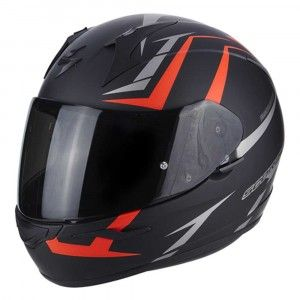 Scorpion Integraalhelm EXO-390 Hawk Matt Black/Neon Red