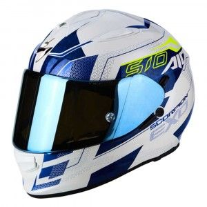 Scorpion Integraalhelm EXO-510 Galva Pearl White/Blue
