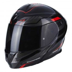 Scorpion Systeemhelm EXO-920 Shuttle Black/Silver/Red