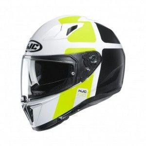 HJC Integraalhelm I70 Prika White/Fluor Yellow