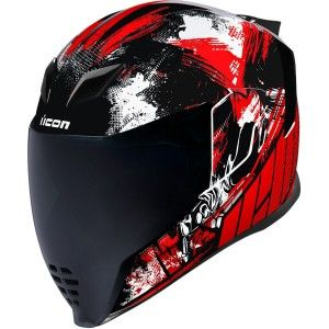 Icon Airflite Stim Integraalhelm Red