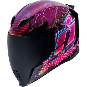 Icon Airflite Synthwave Integraalhelm Glow In The Dark