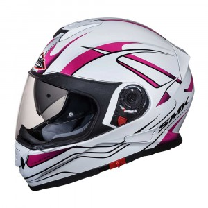 SMK Integraalhelm Twister Splash White/Pink