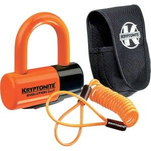 Kryptonite Evolution Series 4 Disc Lock Orange Premium Pack