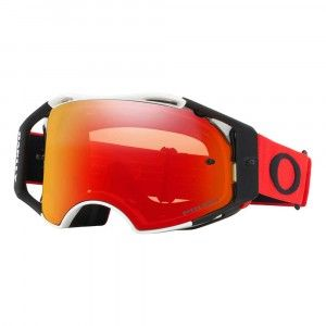 Oakley Crossbril Airbrake MX Red White/Prizm™ Torch Iridium