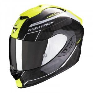Scorpion EXO-1400 Air Carbon Integraalhelm Beaux White/Neon Yellow