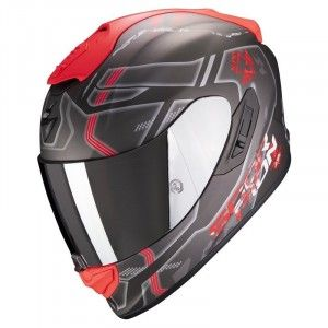 Scorpion EXO-1400 Air Integraalhelm Spatium Silver/Red