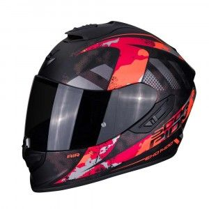 Scorpion EXO-1400 Air Integraalhelm Sylex Black/Zilver/Red