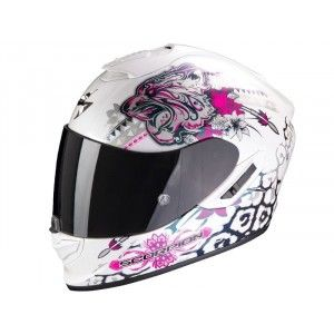 Scorpion EXO-1400 Air Integraalhelm Toa Matt White/Pink