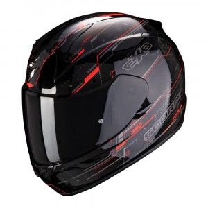 Scorpion EXO-390 Integraalhelm Beat Black/Neon Red