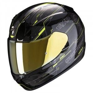 Scorpion EXO-390 Integraalhelm Beat Black/Neon Yellow
