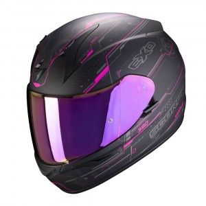 Scorpion EXO-390 Integraalhelm Beat Black/Pink