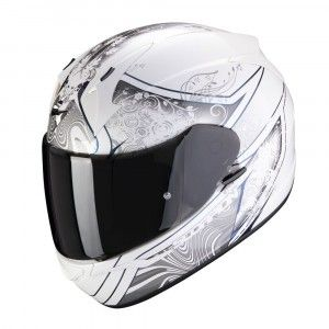 Scorpion EXO-390 Integraalhelm Clara White/Zilver