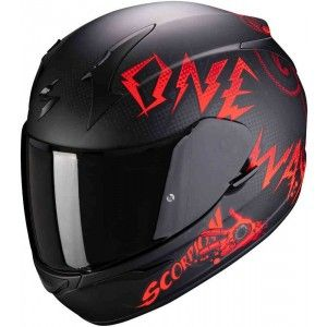 Scorpion EXO-390 Integraalhelm Oneway Black/Red