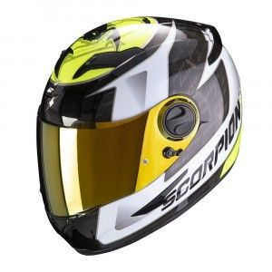 Scorpion EXO-490 Integraalhelm Tour White/Neon Yellow