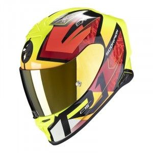 Scorpion EXO-R1 Integraalhelm Infini Red/Neon Yellow