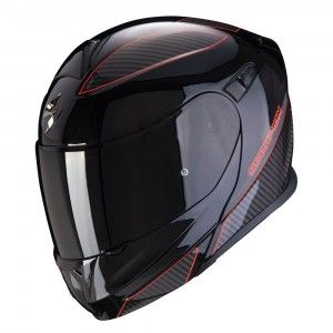 Scorpion Systeemhelm EXO-920 Flux Black/Red Metalic