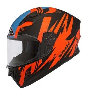 SMK Integraalhelm Stellar Trek Orange / Blue