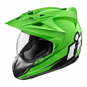 Icon Integraalhelm/Endurohelm Variant Double Stack Green